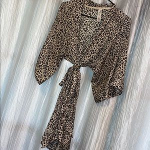 Leopard Kimono Robe